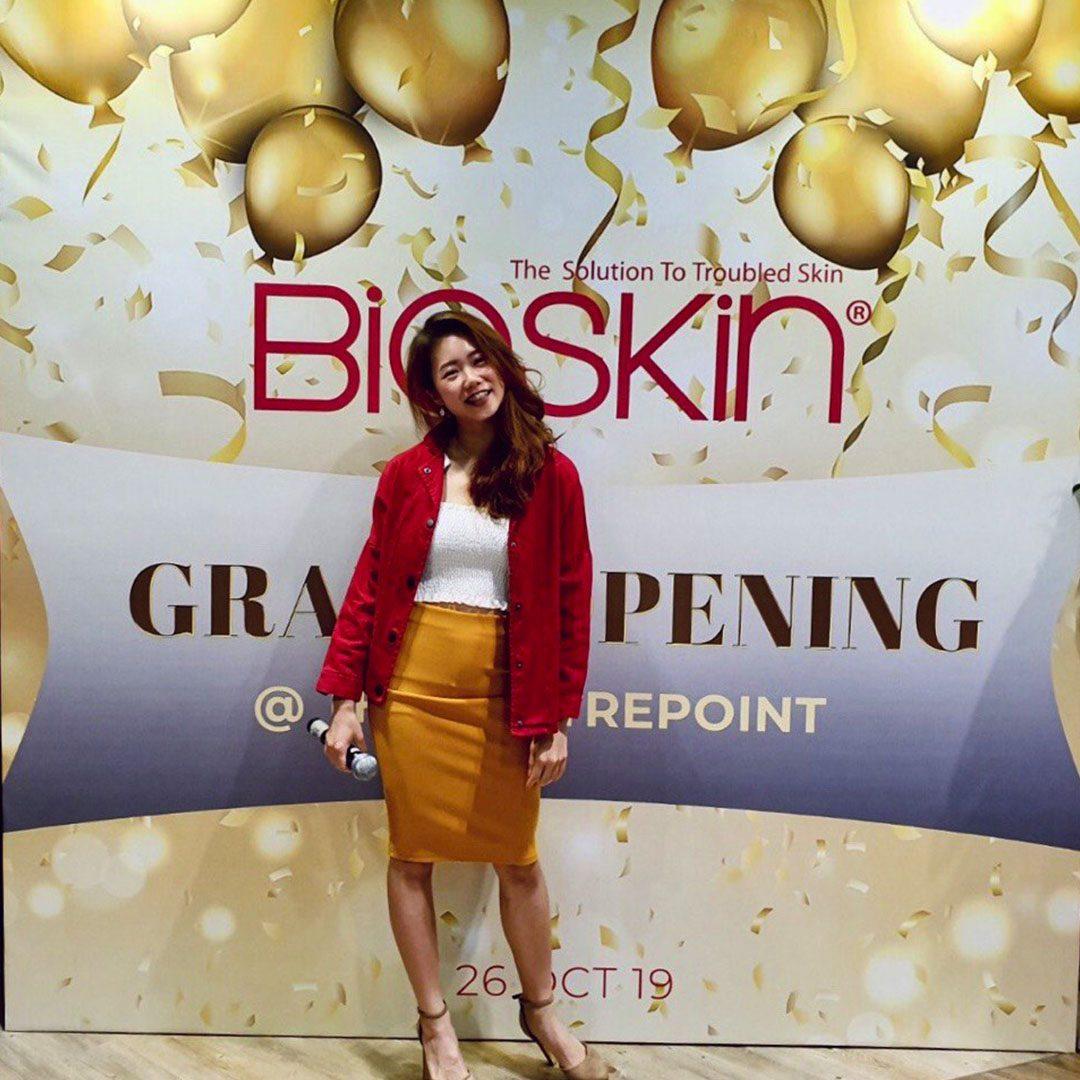 gladys bay hosting bioskin flagship store opening